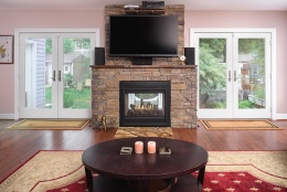 falls church-double sided fireplace