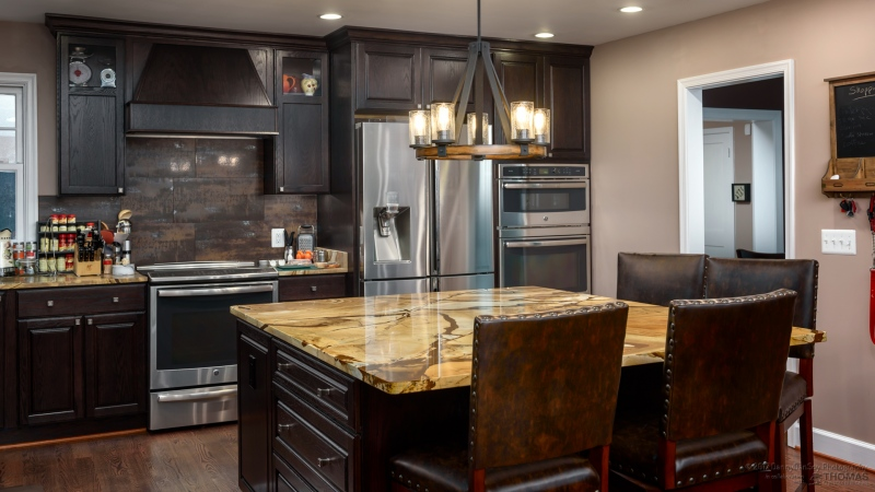 Falls Church-custom kitchen-island overhang