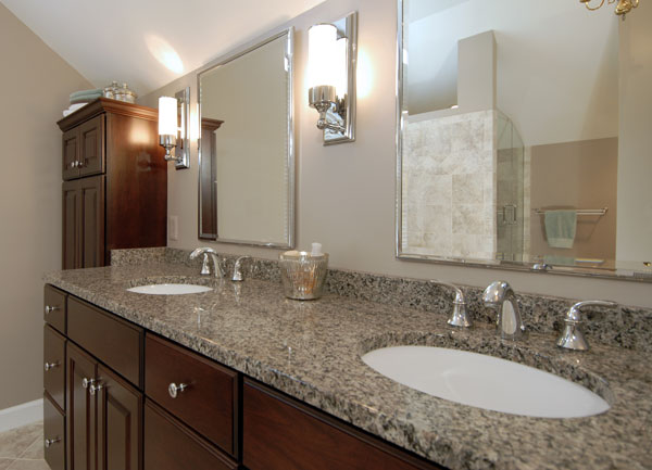 beautifully remodeled second floor bathroom in fairfax
