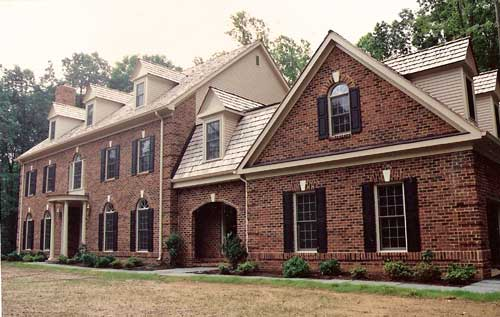 large custom-built brick house in VA