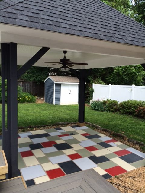 custom tiled patio extension in fairfax virginia