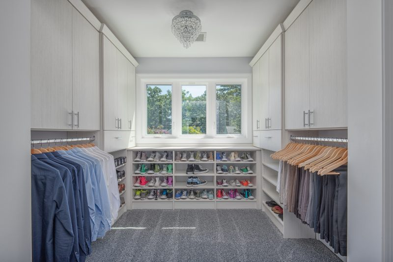 large walk-in closet in attic renovation