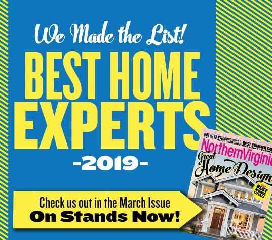 Northern VA Magazine Best Home Experts 2019 Announcement