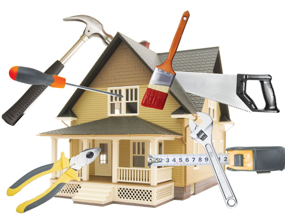DIY image showing house surrounded by various tools