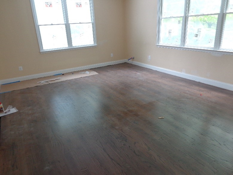 refinished hardwood floor