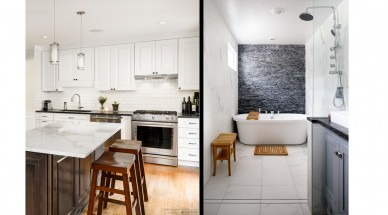 simultaneous kitchen and bath remodeling projects in Fairfax, VA