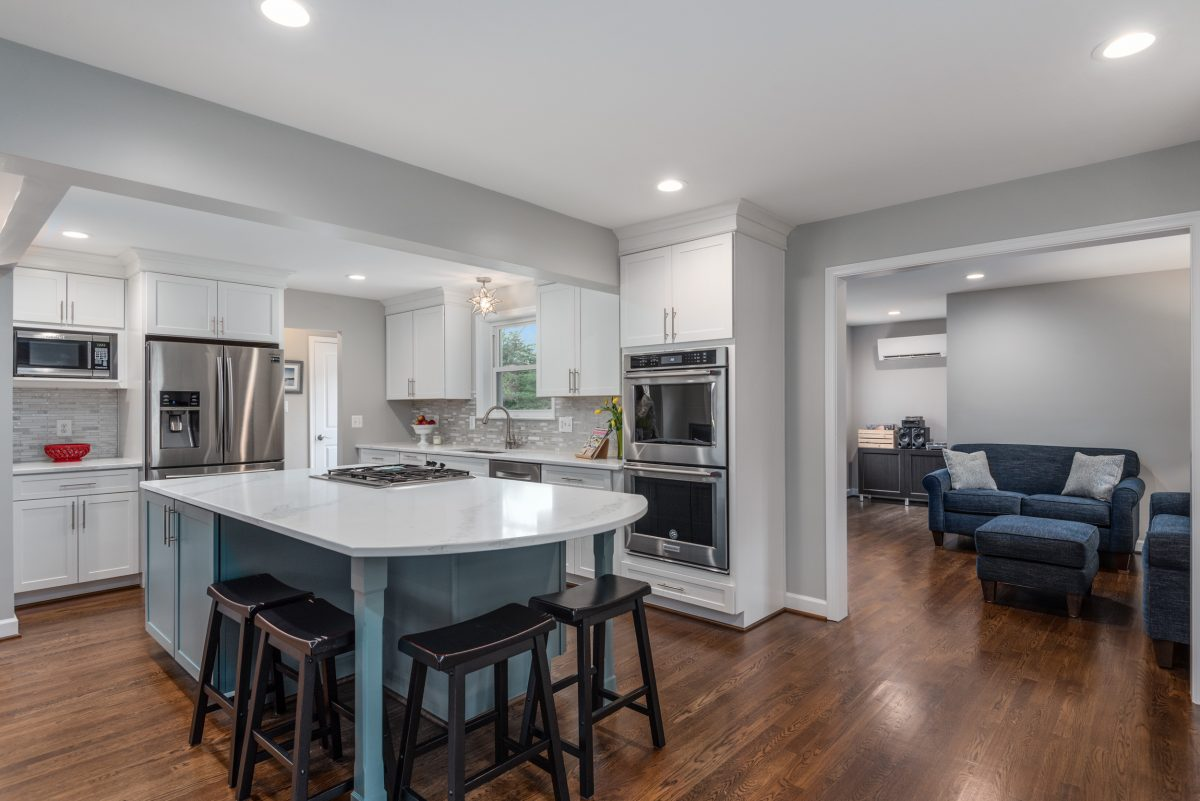 a beautiful 2019 kitchen remodel in Fairfax, Virginia