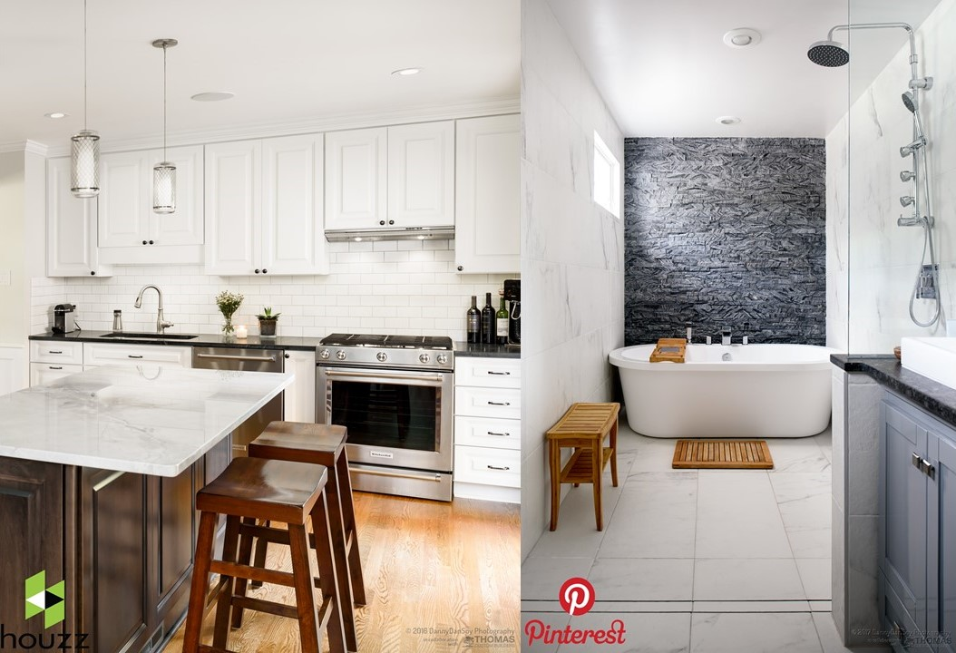 Pinterest and Houzz images from TCB profiles as the start of an inspiration board
