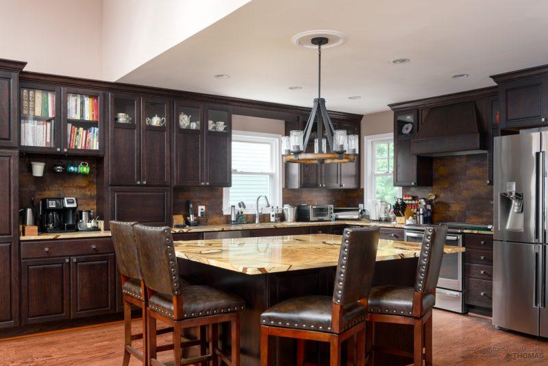 kitchen addition, dark cabinets 2018