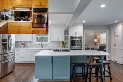 remodeled kitchen in Virginia - before and after