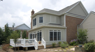 two-story home addition on rear of house in northern Virginia