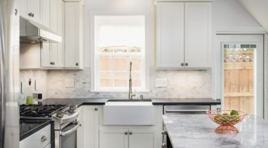 compact kitchen remodel in northern Virginia